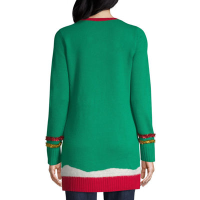 Blizzard Bay Long Sleeve Round Neck Holiday Pullover Tunic