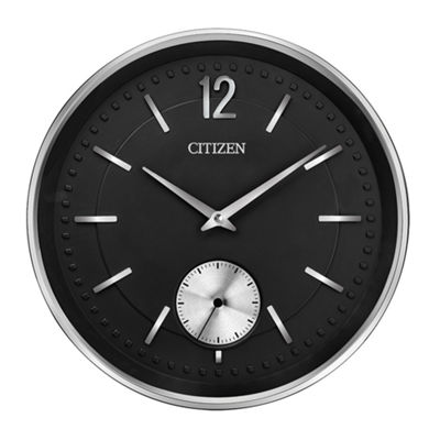Citizen Black Wall Clock-Cc2032