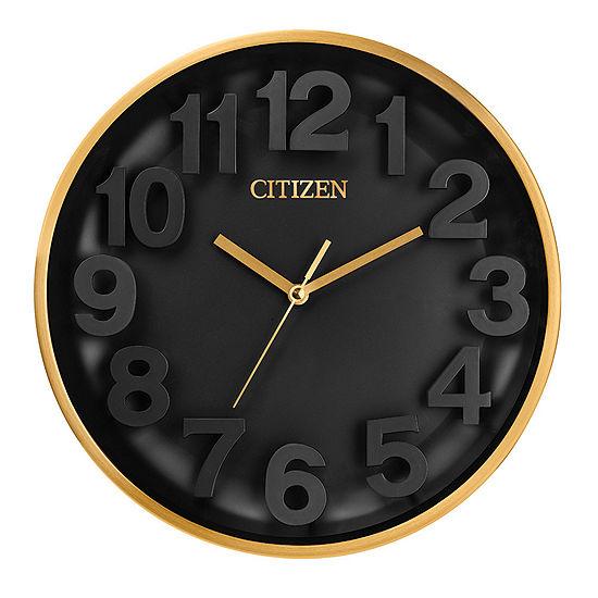 Citizen Black Wall Clock-Cc2025