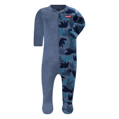 Levi's L/S Blocked Footie Sleep and Play - Baby