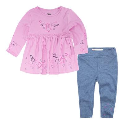 Levi's Knit Tunic Legging Set-Baby Girls