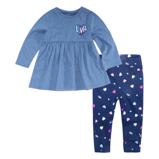Levi's Knit Tunic Set Legging Set-Baby Girls