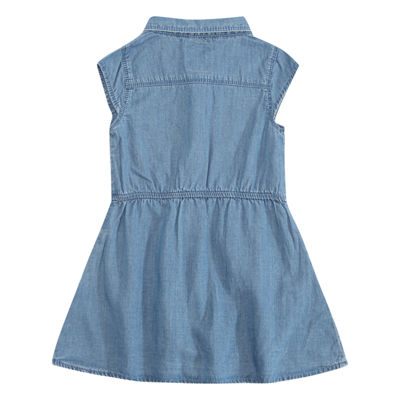 Levi's Parker Woven Dress Short Sleeve Cap Sleeve A-Line Dress - Baby Girls