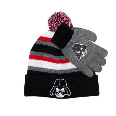 Star Wars Beanie with Gloves Set-Boys