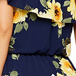 Premier Amour Off The Shoulder Floral Maxi Dress