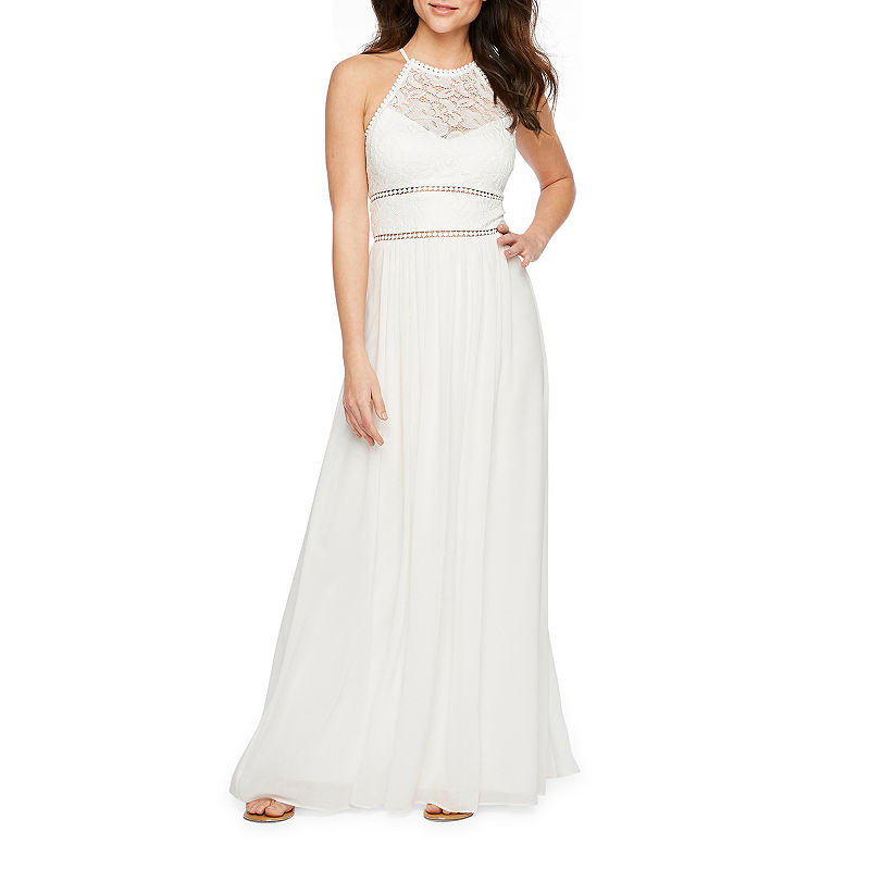 60s Wedding Dresses | 70s Wedding Dresses Premier Amour Sleeveless Maxi Dress $44.99 AT vintagedancer.com