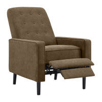 Hagen Tufted Track-Arm Push Back Chenille Recliner