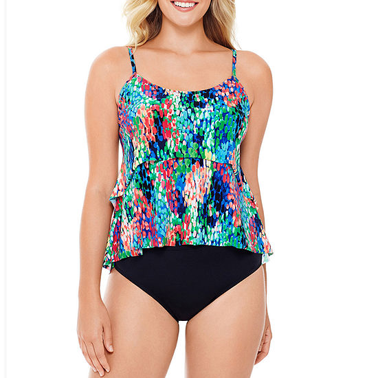 St. John's Bay Floral Tankini Swimsuit Top or Swimsuit Bottom