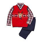 Brother & me IZOD 3-pc. Reindeer Sweater Vest Set