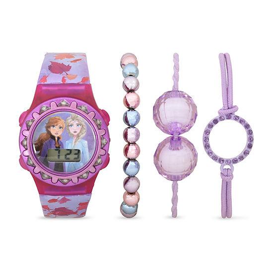 Disney Frozen Girls Digital Purple 4-pc. Watch Boxed Set-Fzn45000jc