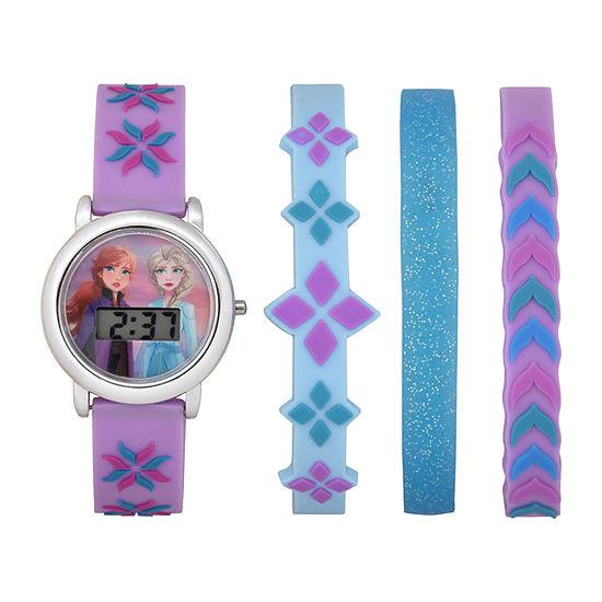 Disney Frozen Girls Digital Purple 4-pc. Watch Boxed Set-Fzn45011jc