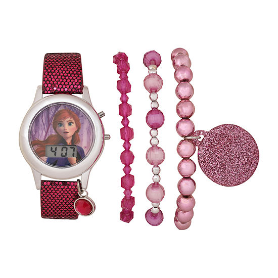 Disney Frozen Girls Digital Pink 4-pc. Watch Boxed Set-Fzn45020jc