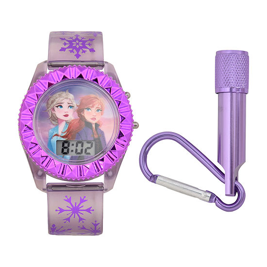Disney Collection Girls Digital Purple Watch Boxed Set-Fzn45025jc