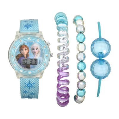 Disney Collection Girls Digital Blue Watch Boxed Set-Fzn45030jc