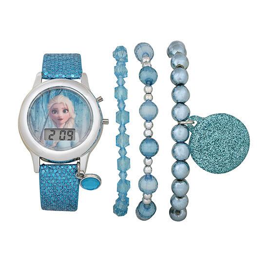 Disney Frozen Girls Digital Blue 4-pc. Watch Boxed Set-Fzn45031jc