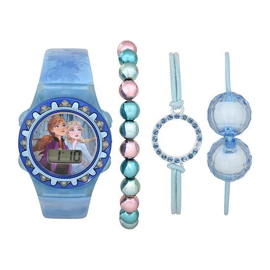 Disney Frozen Girls Digital Blue 4-pc. Watch Boxed Set-Fzn45032jc