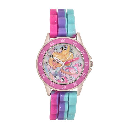 Barbie Girls Multicolor Strap Watch-Bdt9000jc