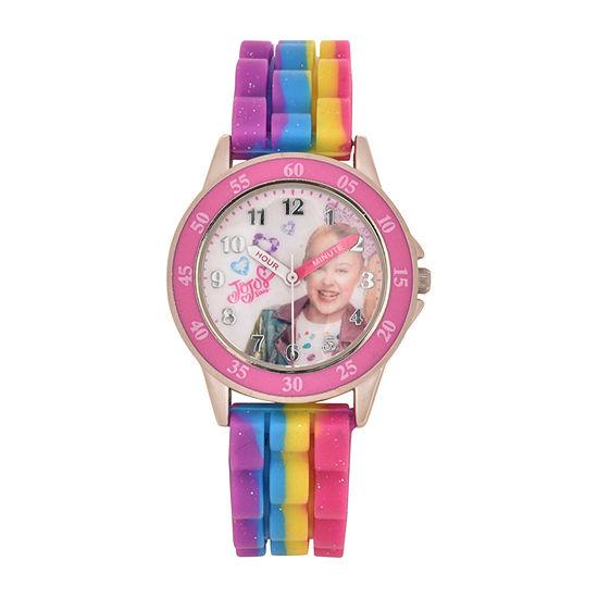 Girls Multicolor Strap Watch-Joj9023jc
