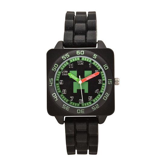 Minecraft Boys Black Strap Watch Min9011jc