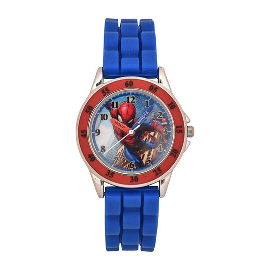 Spiderman Boys Blue Strap Watch-Spd9048jc19