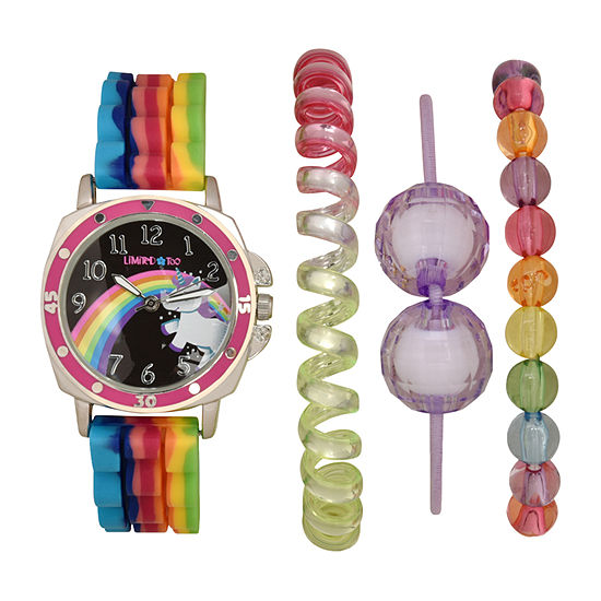 Limited Too Girls Multicolor 4-pc. Watch Boxed Set-Lmt20011jc