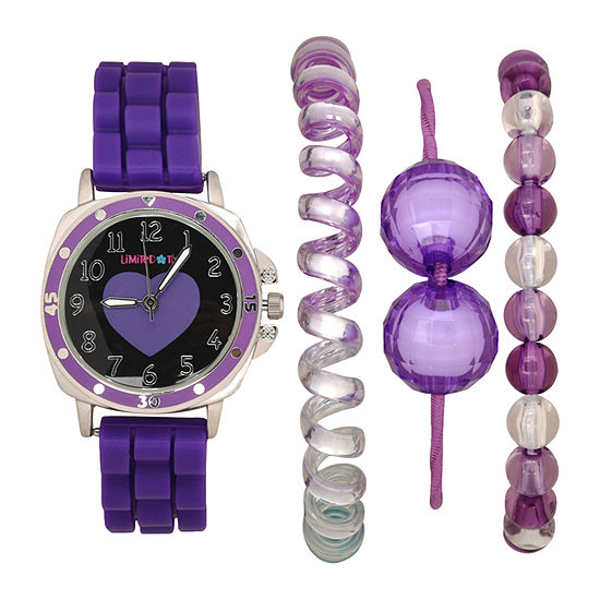 Limited Too Girls Purple 4-pc. Watch Boxed Set-Lmt20012jc