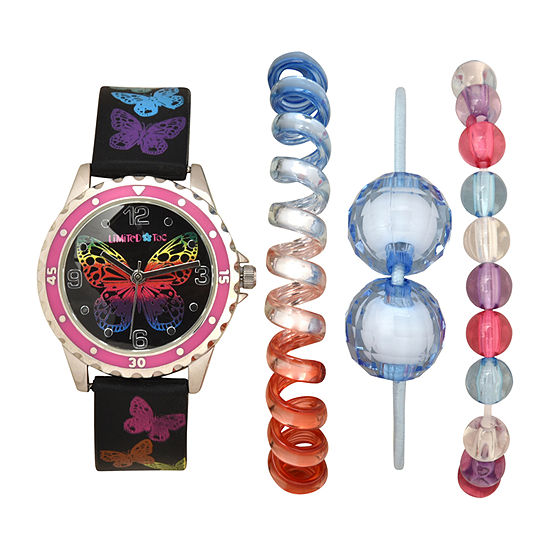 Limited Too Girls Black 4-pc. Watch Boxed Set-Lmt20013jc