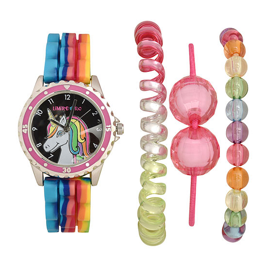 Limited Too Girls Multicolor 4-pc. Watch Boxed Set-Lmt20014jc