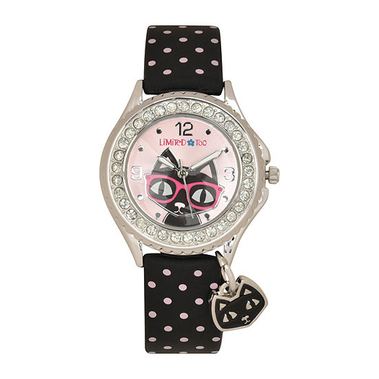 Limited Too Girls Black Strap Watch-Lmt90225jc