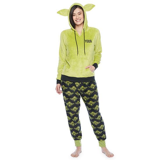 Mad Engine Star Wars Yoda Womens Pant Pajama Set 2-pc. Long Sleeve