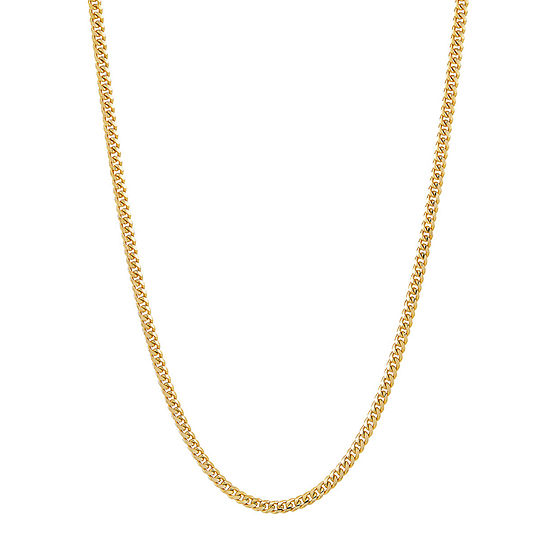 14K Gold 22 Inch Solid Link Chain Necklace