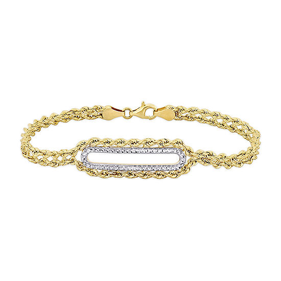 10K Gold 7.5 Inch Hollow Link Chain Bracelet