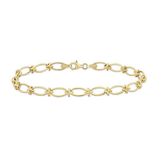 10K Gold 7.5 Inch Solid Link Bracelet