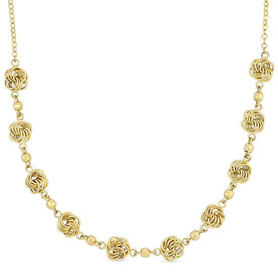 Womens 10K Gold Collar Necklace