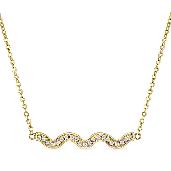 Womens 10K Two Tone Gold Collar Necklace