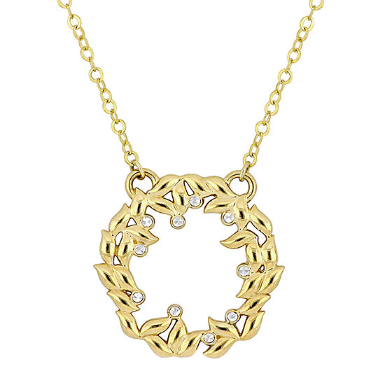 Womens 10K Two Tone Gold Pendant Necklace