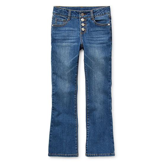 Arizona Little Kid / Big Kid Girls Regular Fit Flare Jean
