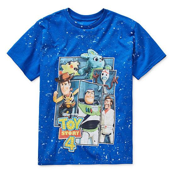 Boys Crew Neck Short Sleeve Toy Story Graphic T-Shirt - Preschool / Big Kid