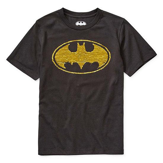 Boys Crew Neck Short Sleeve Batman Graphic T-Shirt - Preschool / Big Kid