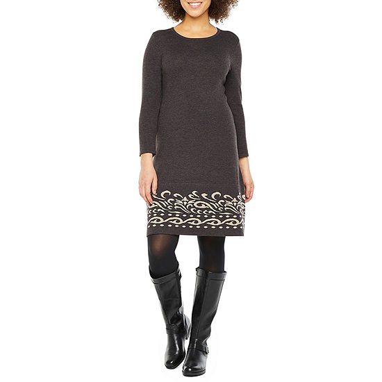 Jessica Howard 3/4 Sleeve Sweater Dress