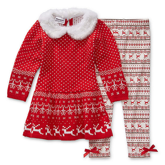 Blueberi Boulevard Christmas Girls 2-pc. Pant Set Toddler