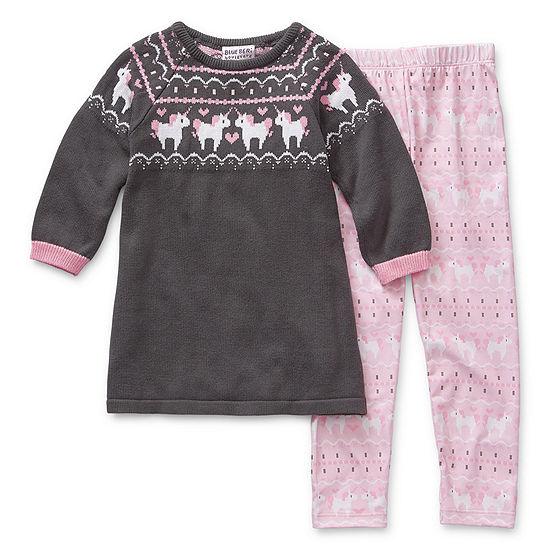 Blueberi Boulevard Christmas Girls 2-pc. Pant Set Toddler