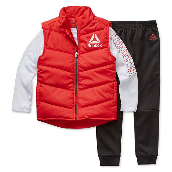 Reebok Boys 3-pc. Logo Pant Set Preschool
