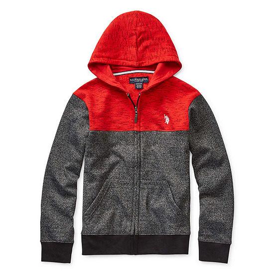 Us Polo Assn. Boys Embroidered Hoodie-Big Kid