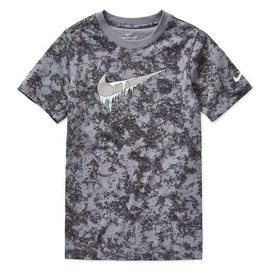 Nike Boys Crew Neck Short Sleeve Graphic T-Shirt - Big Kid
