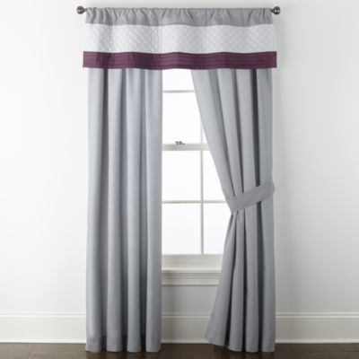 JCPenney Home Hannah Light-Filtering Rod-Pocket Set of 2 Curtain Panel
