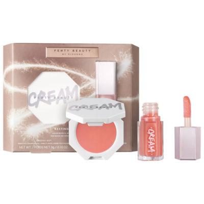 FENTY BEAUTY by Rihanna Resting Peach Face Cream Blush & Mini Gloss Bomb Cream Duo
