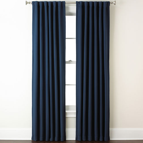 Eclipse® Fresno Rod-Pocket/Back-Tab Blackout Curtain Panel