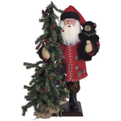 "Santa's Workshop 20"" Pine Cone Santa with Tree"