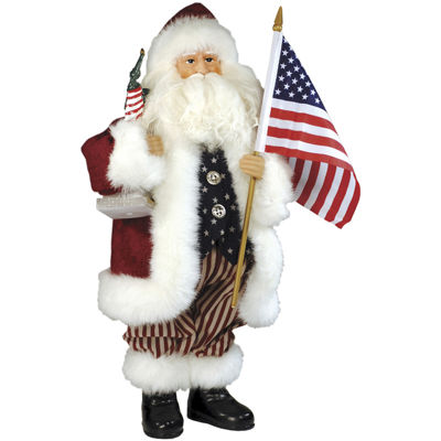 "Santa's Workshop 15"" American Santa"